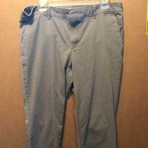 Loft Light Gray Khaki Pants
